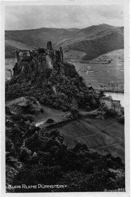 Burg Dürnstein. Castle Dürnstein, Austria. Antique Collectible Postcard.