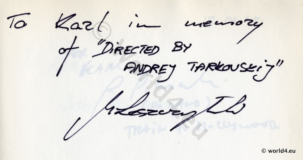 Autograph,Andrei Tarkowski, Director,