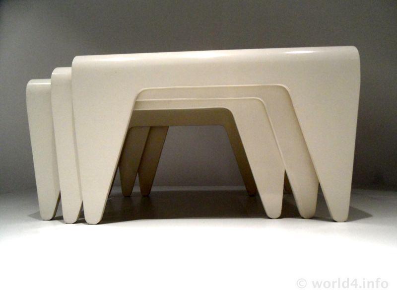 Good Nesting Tables. German Bauhaus Design, Designer Marcel Breuer. Famous  Vintage Furniture. Gestaltung Neue Sachlichkeit.