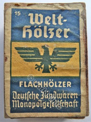 Vintage Graphics Design Advertising, German Brand. Retro Illustration. Collectible Matches from Germany.