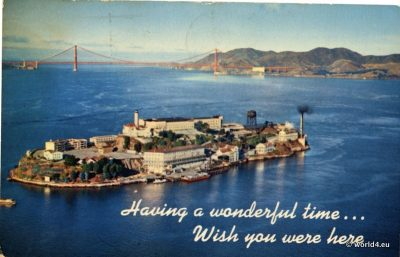 Alcatraz Island, California, San Francisco 1974, Collectible, Postcard, Topography,