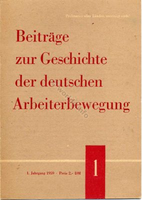 Contributions to the German labor movement