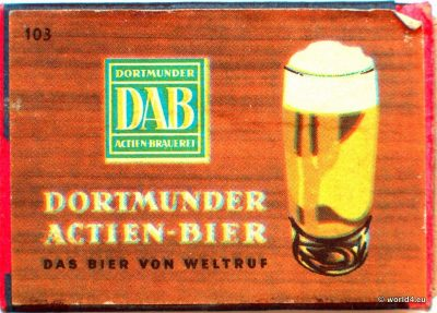 DAB German Brewery Matches. Phillumeny 1960s