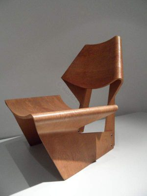 Molded Plywood chair. Design of the 20th century. Danish furniture designer. Nordic design