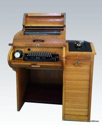Mid-century  German industrial design. Teleprinter, Fernschreiber, Siemens