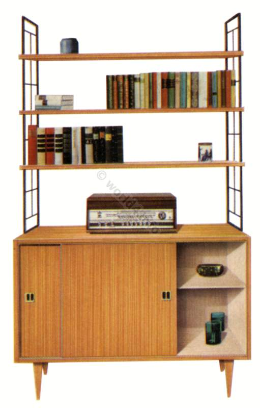 Mid-century Office Furniture Design Germany. Rockabilly style