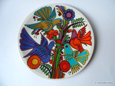 Vintage Villeroy & Boch, Acapulco porcelaine design decor 1976. Serie: New wave