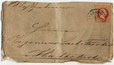 Antique bohemian letter. Autograph, Template, Stamps, Handwriting, Philately