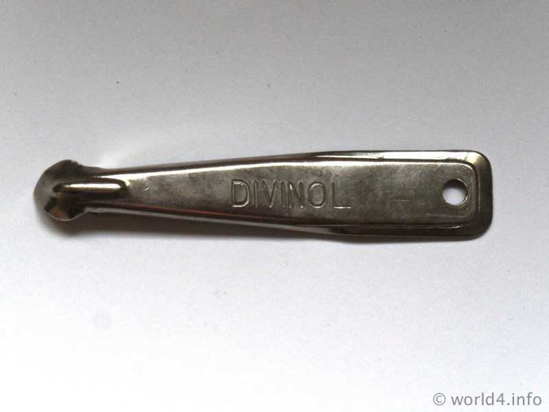German Brand Divinol cap lifter. Collectible Tool