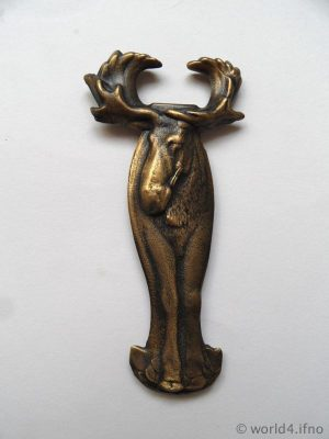 Canada design. Rare Collectible Moose Bottle Opener, Canadian Souvenir