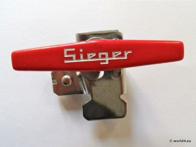 Sieger Boy Can Opener. Lid Equipment, Collectible Vintage Design Tool, professional kitchen equipment