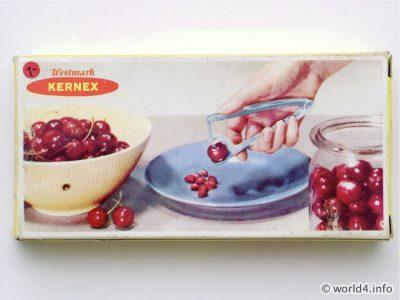 cherry stoner. cherry pitter. Kirschkern Entferner. Cherry pit remover, Westmark Kernex, Vintage Kitchen Tool