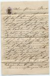 Rare collectible Bohemian Autograph Calligraphy. Decorative Letter with handwriting template. Nobility correspondence template