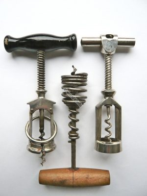 Antique corkscrews, D.R.G.M. Collectible Items. German Vintage Design