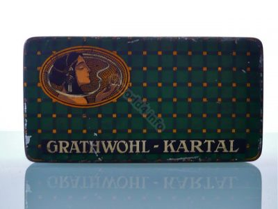 Grathwohl Kartal, Cigarette, tin box, Art Nouveau, art-deco, smoking girl