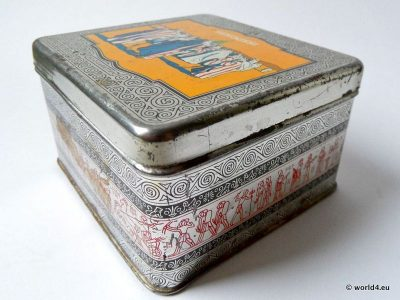 Senoussi, Cigarettes, tin box, collectible, antique
