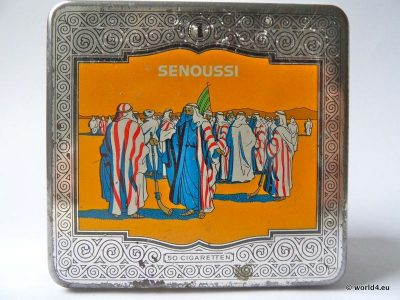 Senoussi, Cigarettes, tin box