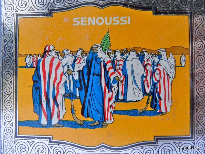 Senoussi, Cigarettes, tin box