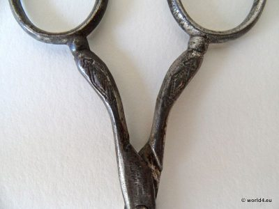 Antique Biedermeier Scissors Germany. Historical Tool. Collectors Item. Lady`s accessoires.
