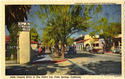 Palm Canyon, Desert Inn, Palm Springs California, Stephen H. Willard