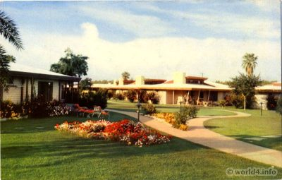 California Palm Springs, Biltmore Hotel. Kodak Colors. Collectible Vintage postcard Stephen Willard.