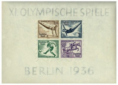 Olympic Games, Berlin, 1936, Stamps, German Empire Olympia, Philately