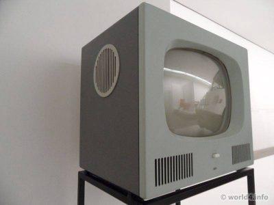 German Industrial design. Braun Television HF 1, 1958. Designer Herbert Hirche.