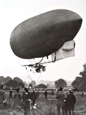Antique Airship Willows II, England postcard. Aviator Zeppelin post.