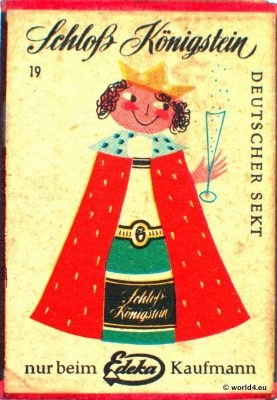 Germany vintage matchbox phillumeny. Advertising on matchbox. German Grafidesign from the 1960s.