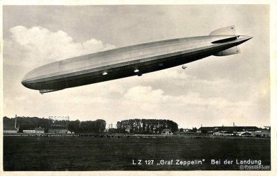 Airship, LZ 127, Graf Zeppelin, 1928,aviator,Collectible, postcard.