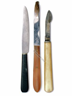 Old knives. Ivory knife handle 19th century. Collectible knifes.