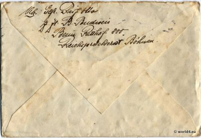 Nazi German army letter cover WW2, 1940. Collectible. Handwriting.