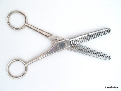 Barber scissors. Hairdressing Scissors. Pair of hairdressing scissors. Veit Scheren.