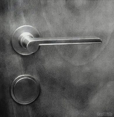 Bauhaus Door handle and door fittings. Design by Wilhelm Wagenfeld. Industrial design