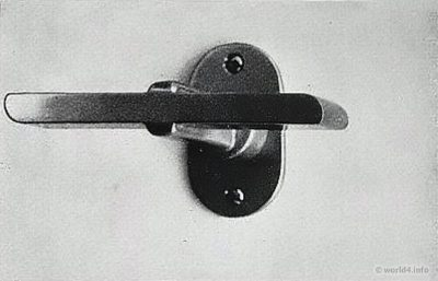 German Designer Wilhelm Wagenfeld. Bauhaus Door handle design