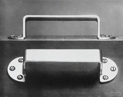 Bauhaus Desk fitting. Design by Wilhelm Wagenfeld.