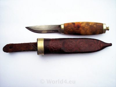 Brusletto hunting knife from Norway. Collectible Knives.