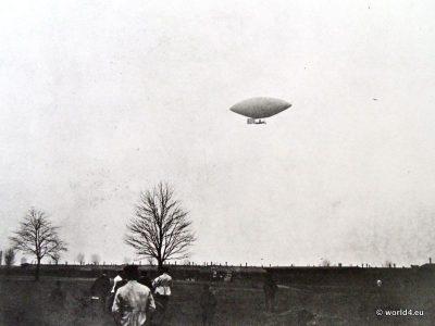 German aviation pioneer Hermann Wölfert. German airship early aviator. Collectible postcard. Early Aviator Zeppelin.