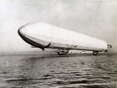 German Zeppelin Airship LZ 2. Early Aviator. Collectible postcard.