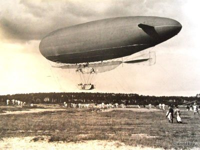 German military airship M1. Collectible postcard. Early Aviator. Typ Groß-Basenach. Majors Hans Groß