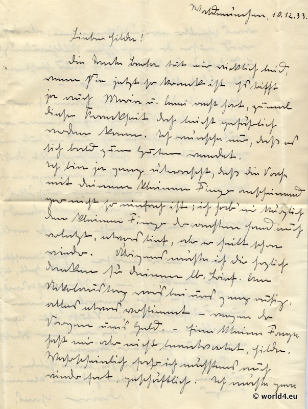 german letter in suetterlin cursive handwriting 1933 lost and found