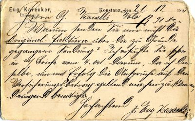 Antique German letter 1895. Calligraphy. Collectible Philately. German handwriting