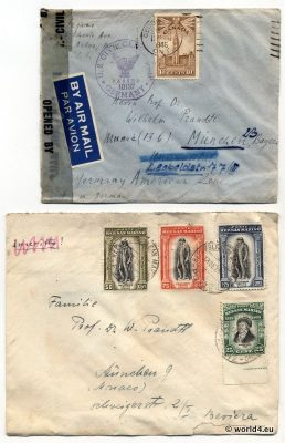 Letters from Canada and San Marino. Rare Stamps and Postmark. Collectible Philately