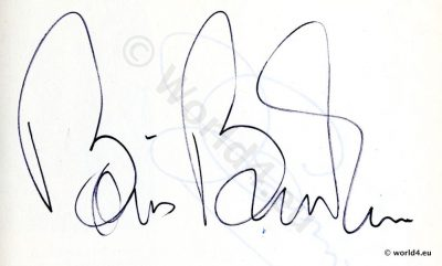 Original Autograph by Boris Becker. Wimbledon champion. German tennis player and Olympic champion.