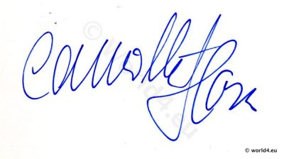 Autograph by Camilla Horn. Actress in Faust - a German folk tale, by Friedrich Wilhelm Murnau. Worked with directors such as Ernst Lubitsch and John Barrymore.