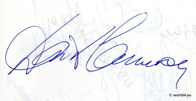 Autograph by David Cameron. British actor and director