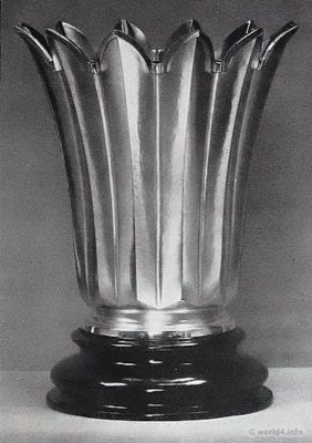 Vase design by Paula Straus. Bauhaus, Art deco design, 1920s