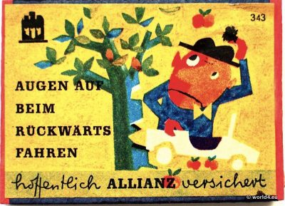 Phillumeny, Germany, Illustration, Graphics Design, Matchbox 1960s