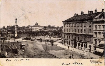 Praterstern Vienna Austria 1904. Collectible picture card. Old postcard.