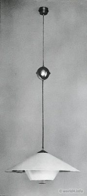 Bauhaus Balancer light. Design Wilhelm Wagenfeld 1929. Industrial design